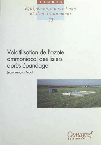 Volatilisation of ammonia nitrogen after slurry application - Jean-François Moal - Irstea