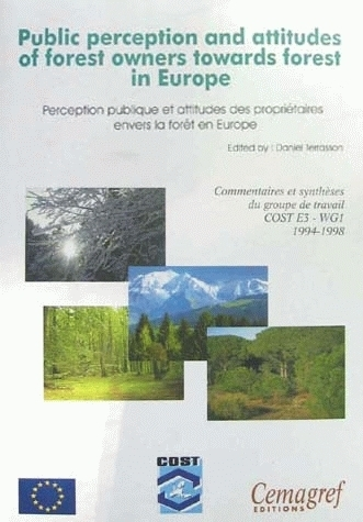Public perceptions and attitude of forest owners towards forest in Europe -  - Irstea