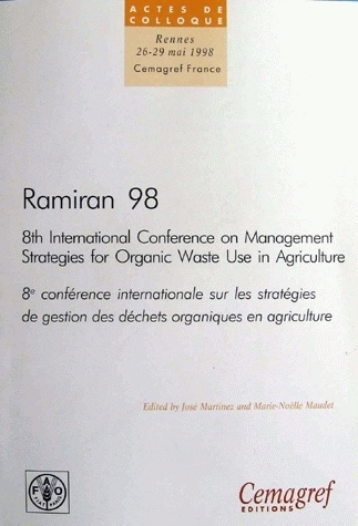 Ramiran 98 actes 8th international conference on management strategies for organic waste use in agriculture -  - Irstea